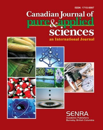 Oct-08 - Canadian Journal of Pure and Applied Sciences