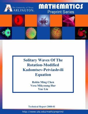 Solitary Waves Of The Rotation-Modified Kadomtsev-Petviashvili ...