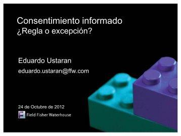 Descargar presentación de Eduardo Ustarán