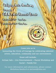 Harvestflyer-final copy - Calgary Arts Academy