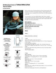 Knitting Experience 2: Felted Mitts & Hat The Purl ... - Knitting Universe