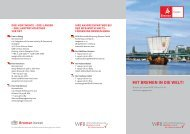 mit bremen in die welt! - WFB Wirtschaftsförderung Bremen GmbH