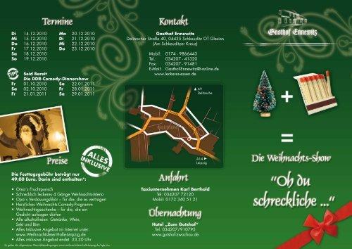 Flyer - Weihnachtsfeier-Halle-Leipzig