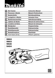 GB Belt Sander Instruction Manual Ponceuse à Bande Manuel d ...