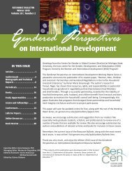 Winter 2013.indd - Center for Gender in Global Context - Michigan ...