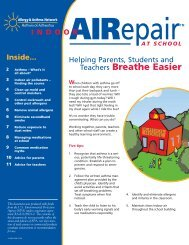 Indoor AIRepair at School newsletter - Allergy & Asthma Network