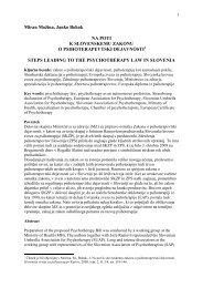 Na poti k slovenskemu zakonu o psihoterapevtski dejavnosti