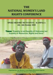 the national women's land rights conference - International Land ...
