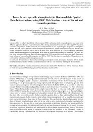 models in Spatial Data Infrastructures using OGC Web ... - EnviroInfo