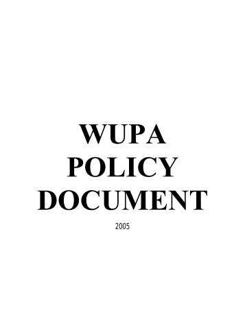 POLICY DOCUMENT - University of Wollongong