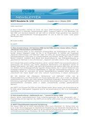 WWTF-Newsletter Nr. 3/08 Ausgabe vom 3. Oktober 2008 - Wwtf.at