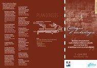 Programme du colloque Archéologie des 3 et 4 juin 2010