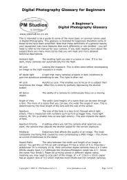 Digital Photography Glossary for Beginners - PM Studios