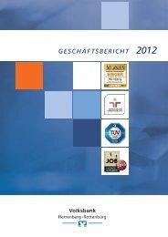 Geschäftsbericht 2012 - Volksbank Herrenberg-Rottenburg eG