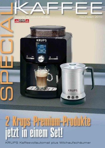KRUPS Kaffeevollautomat plus Milchaufschäumer