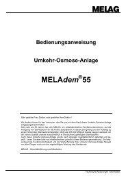 Bedienungsanweisung Umkehr-Osmose-Anlage MELAdem ® 55