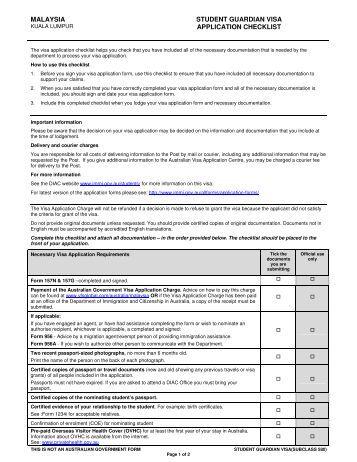 malaysia-student-guardian-visa-application-checklist-vfs-global Vfs Desh Uk Visa Application Form on
