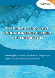 the right to inclusive education for children with disabilities