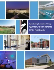 2012 First Quarter Staff Report - the Public Building Commission of ...