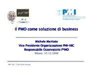 Il PMO come soluzione di business - PMI-NIC