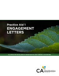 Engagement Letters - Canadian Institute of Chartered Accountants