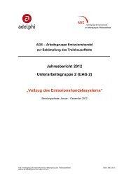 Vollzug des Emissionshandelssystems - BMU