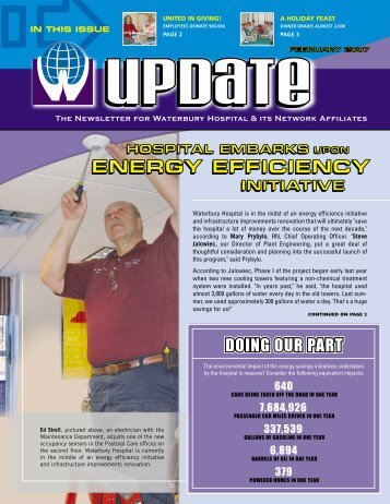 IN THIS ISSUE The Newsletter for Waterbury Hospital & its Network ...