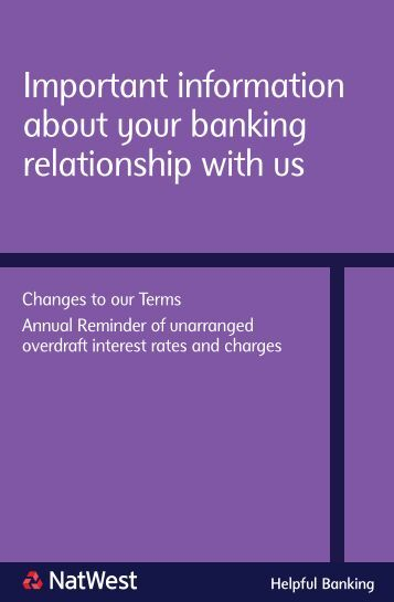 Important information about your banking relationship with ... - NatWest