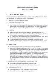Protokoll Gelbe Gruppe 090913 - Deutsche Schule Oslo