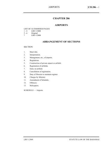 Airports Act - The Bahamas Laws On-Line