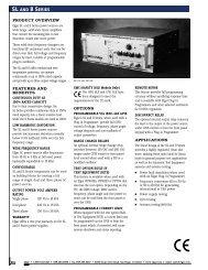 Mfg Spec Sheet