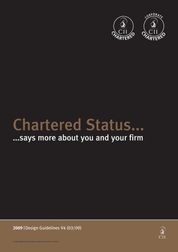 Chartered Status...