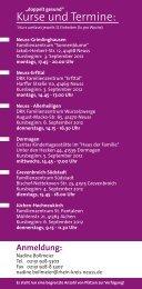 doppelt gesund - Kurse und Termine - Rhein-Kreis Neuss