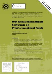 10th Annual International Conference on Private ... - Guernsey