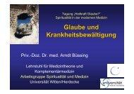 Vortrag PD Dr. med. Büssing