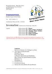 aktuellste Inventarliste - Rhein-Kreis  Neuss macht Sport