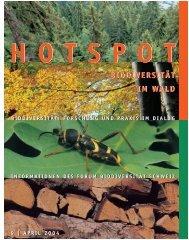 Biodiversität im Wald - Swiss Biodiversity Forum