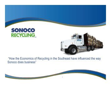 """""""How the Economics of Recycling in the Southeast have influenced ..."""