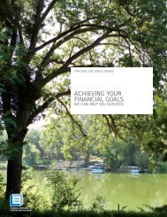 Achieving Your Financial Goals - TIAA-CREF