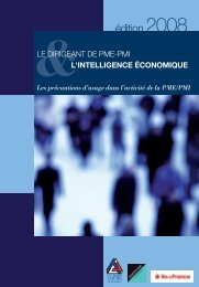 Le dirigeant de PME-PMI et l'intelligence économique