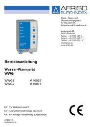 Betriebsanleitung für Wasser-Warngerät WWG (PDF 385 ... - Wekonn