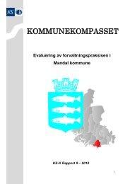 Mandal Kommunekompassrapport 2010 - KS-Konsulent