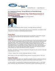 Field Measurements in Pumping Systems - Peerless Pump