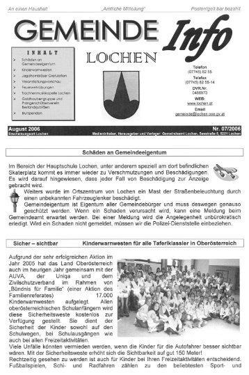 Gemeinde Info Lochen 07/2006
