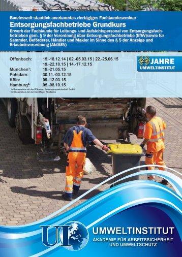 Infomaterial herunterladen (PDF) - Umweltinstitut Offenbach
