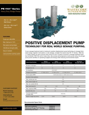 PE 111 - Wastecorp Pumps