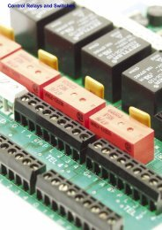 Control Relays and Switches - S.D.S. Security Ltd