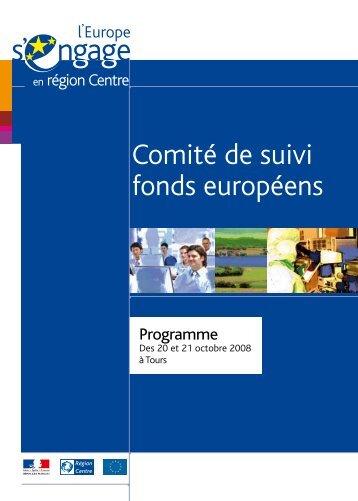 programme du Comité de suivi - L'Europe s'engage en région Centre