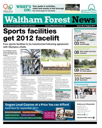 Issue 48: Sports facilities get 2012 facelift - Waltham Forest Council