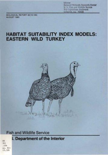 habitat suitability index models: eastern wild turkey - USGS National ...